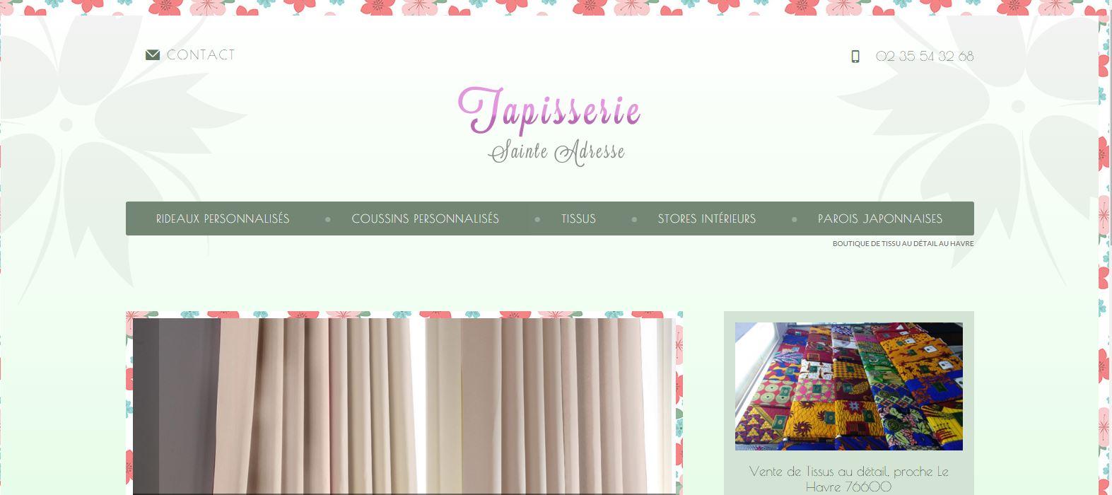 confection de coussins et rideaux en tissus sur le havre tapisserie sainte adresse artisanat. Black Bedroom Furniture Sets. Home Design Ideas