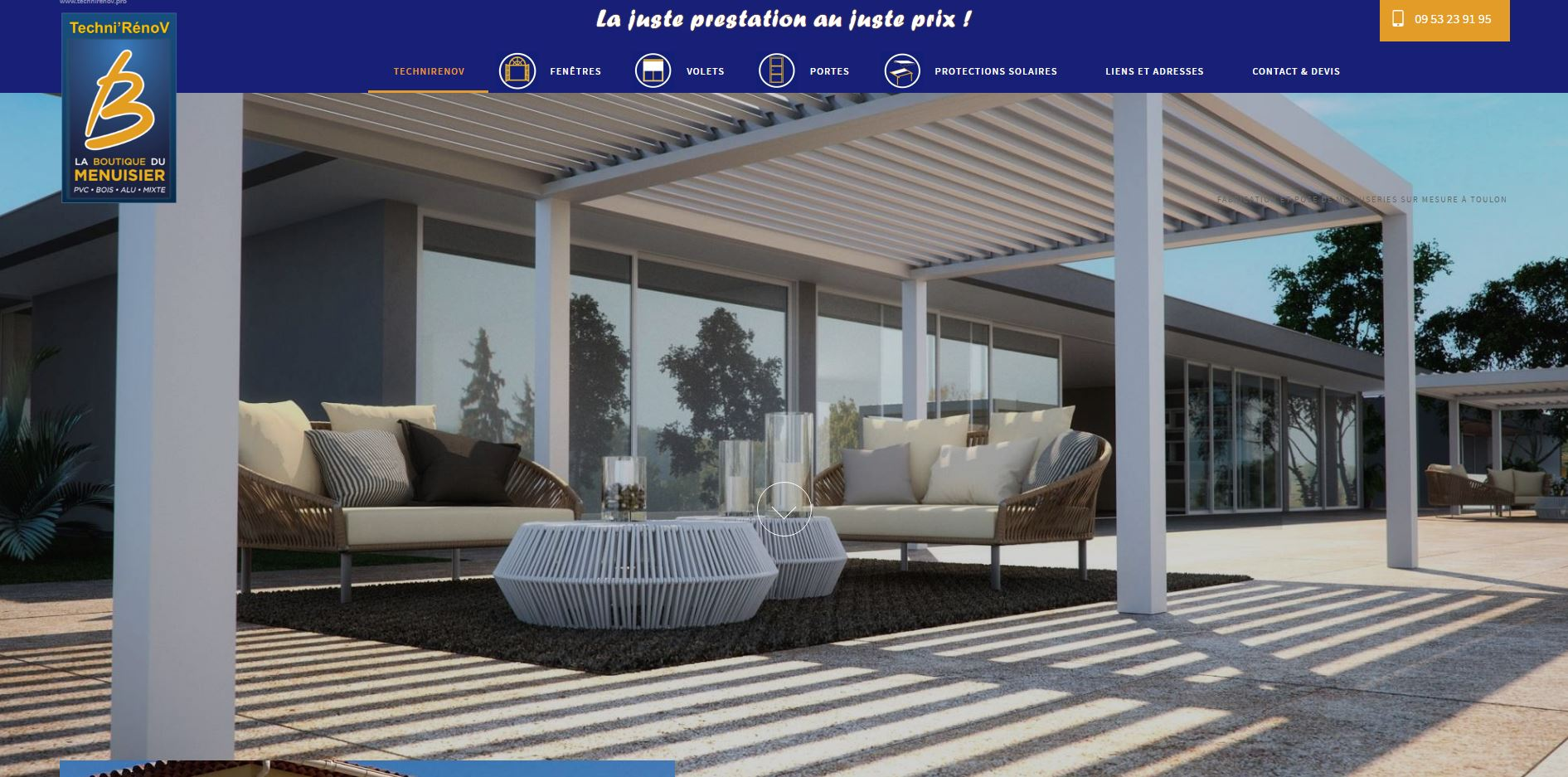 fabricant fran ais de menuiseries toulon techni r nov artisanat de france. Black Bedroom Furniture Sets. Home Design Ideas